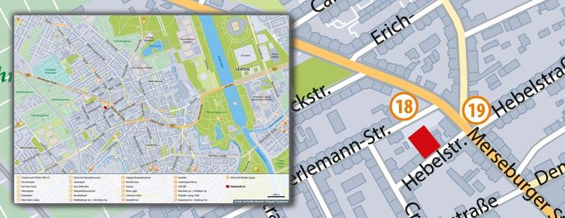 Basiskarte für Immobilie erstellen, Karte für Immobilie erstellen, Lageplan erstellen, Umfeldkarte erstellen