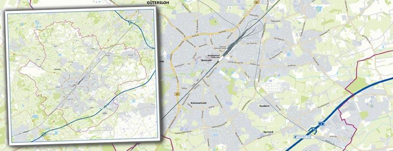 Stadtübersichtskarte erstellen, Stadtkarte erstellen, Karte Stadt erstellen, Landkarte erstellen