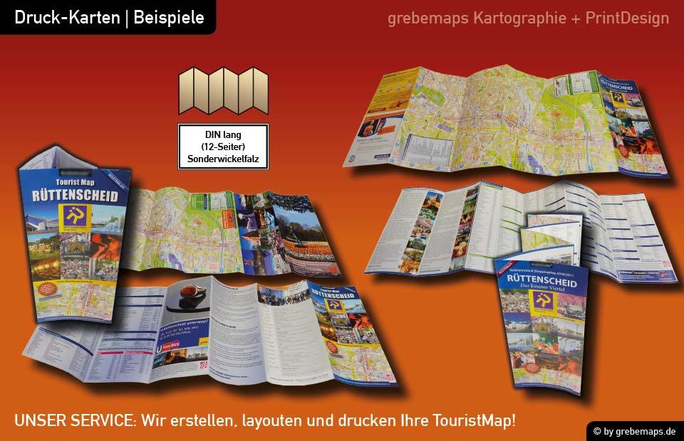 Ortsplan erstellen, Ortsplan layouten, Ortsplan drucken, Landkarte erstellen, Ortsplan Essen-Rüttenscheid