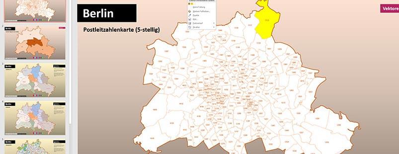 PowerPoint-Landkarten, PowerPoint-Karte Berlin
