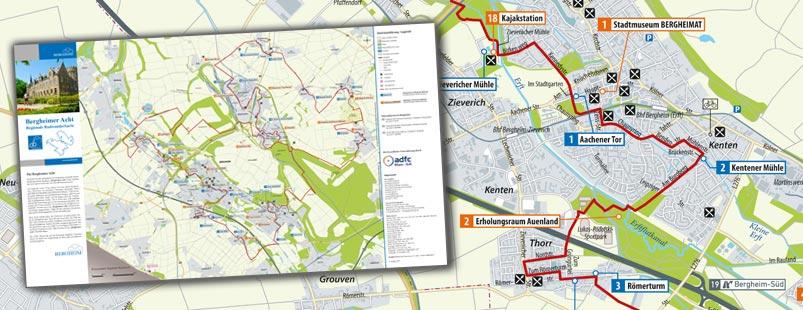 Radtourenkarte erstellen, Karte Radtour erstellen, Radwanderkarte erstellen