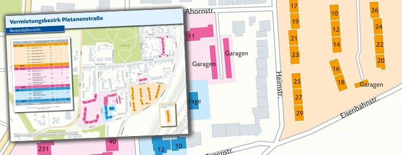 Siedlungsbestandskarte erstellen Vektor, Karte Siedlungsbestand erstellen