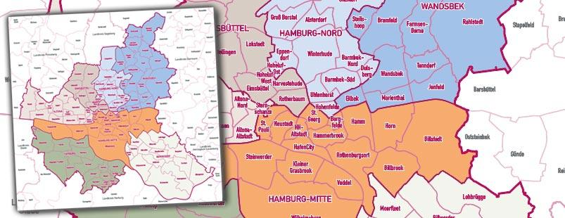Stadtkarte erstellen mit Stadtteilen Stadtbezirken Topographie, Karte Stadt erstellen