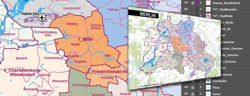 Vektorkarte erstellen, Vektorkarte Berlin