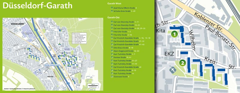 Wohnungsbestandkarte erstellen Vektor, Karte Wohnungsbestand erstellen