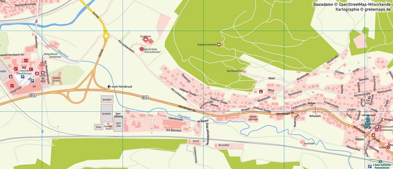 Ortsplan erstellen, Landkarte erstellen, Stadtplan erstellen